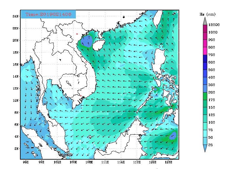 Bản tin dự báo sóng biển 10 ngày tới