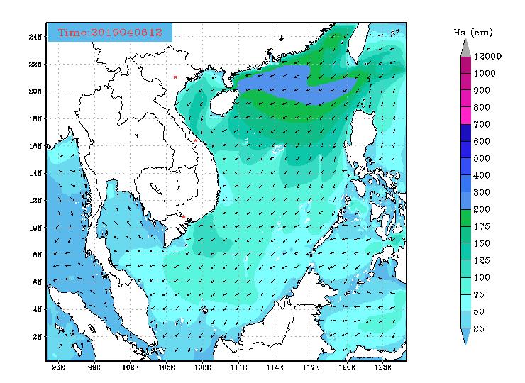 Bản tin dự báo sóng biển 10 ngày tới (từ ngày 06/04/2020 đến ngày 15/04/2020)