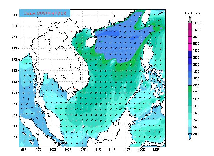 Bản tin dự báo sóng biển 10 ngày tới (từ ngày 06/04 đến ngày 15/04/2020)