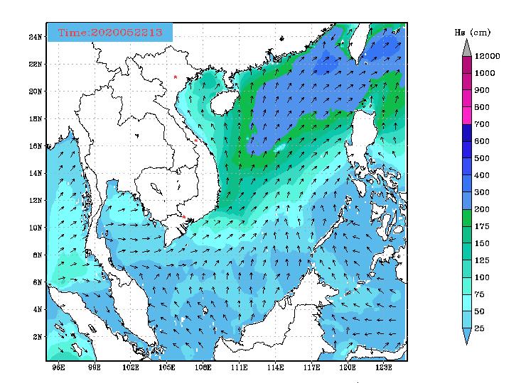 Bản tin dự báo sóng biển 10 ngày tới (Từ ngày 22/05 đến ngày 31/05/2020)