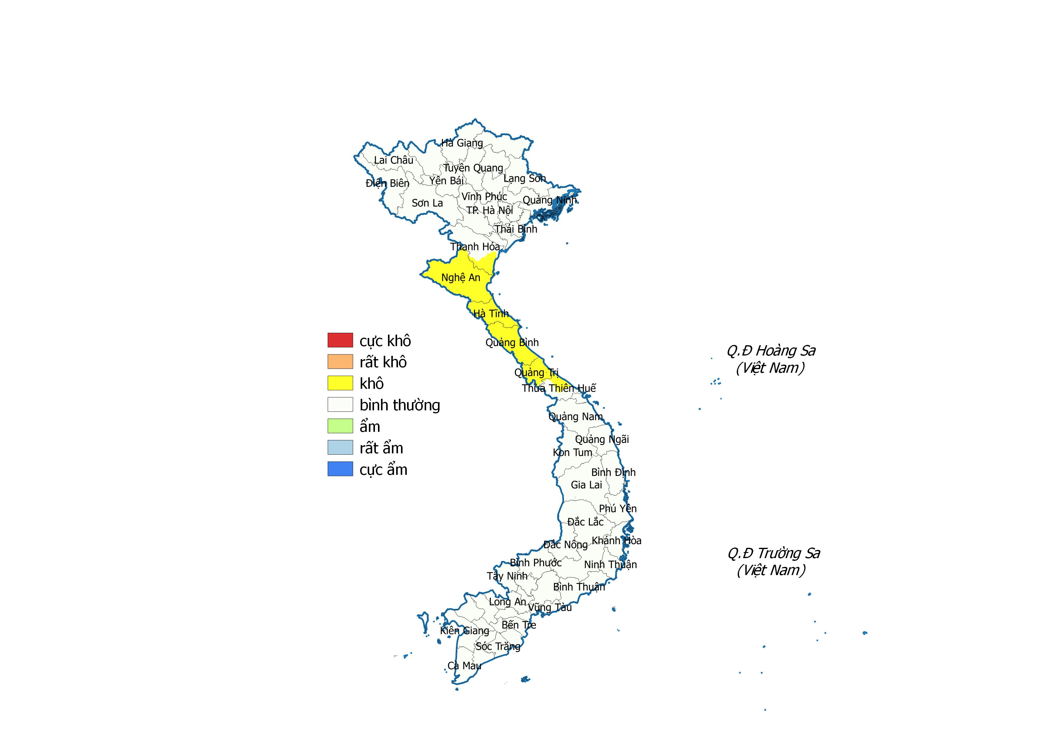 Bản tin dự báo, cảnh báo hạn khí tượng tại các vùng trên cả nước từ ngày 24/6-21/7/2020